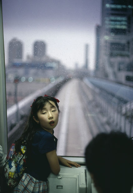 MAGNUM AND STREET PHOTOGRAPHY: Gueorgui Pinkhassov, The New Metro, Tokyo, Japan, 1996. Courtesy of Magnums Photos