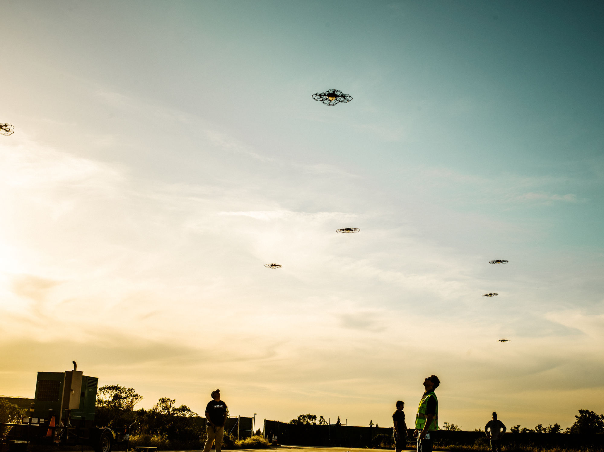 Jake Stangel c/o GIANT ARTISTS photographed one of the largest drone shows ever produced in the US for Time Magazine's Special Report: The Age of Drones.