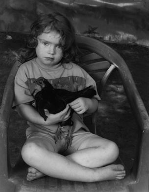 Shelby Lee Adams : Salt & Truth - Angela with Banty Rooster, 2003