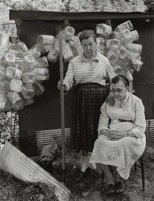 Shelby Lee Adams : Salt & Truth - Martha and Kizzie with Recycled Water Jugs, 2009