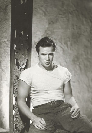 GLAMOUR OF THE GODS : Marlon Brando for A Streetcar Named Desire by John Engstead, 1950 (National Portrait Gallery)