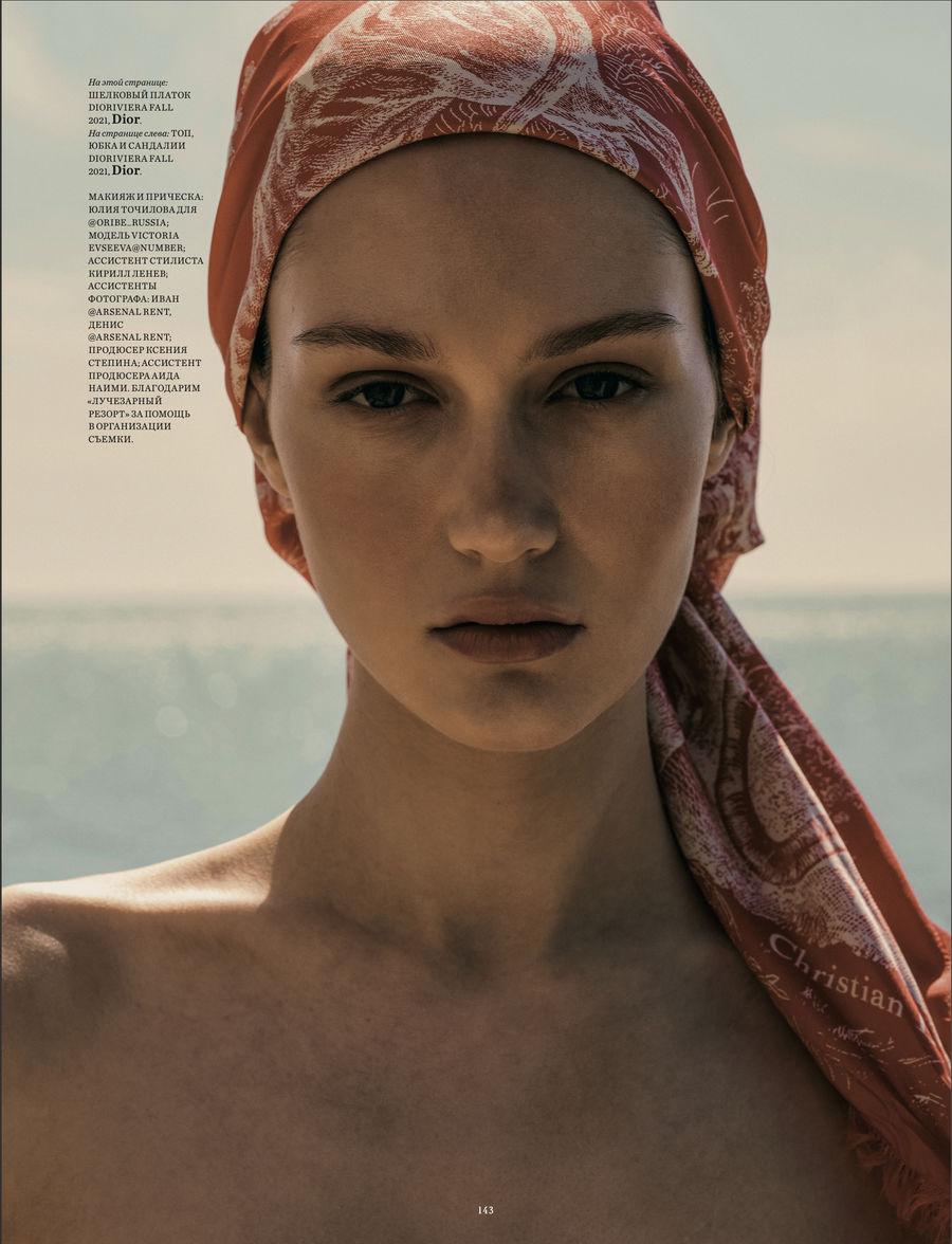 Vika Evseeva for Harper's Bazaar June 2021 ICONIC
