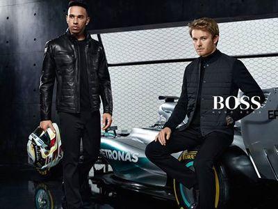 HUNTER & GATTI : Formula 1 World Drivers' Champions Lewis Hamilton and Nico Rosberg for HUGO BOSS Mercedes-Benz campaign