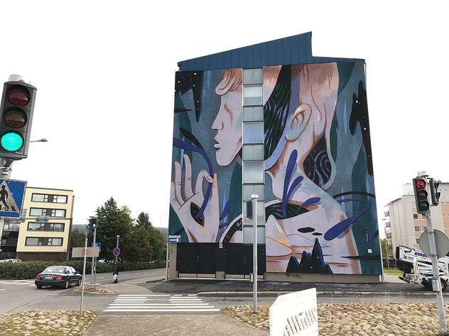 COSMOPOLA    Illustration Artist Andrea Wan - Vessel Mural, Finland