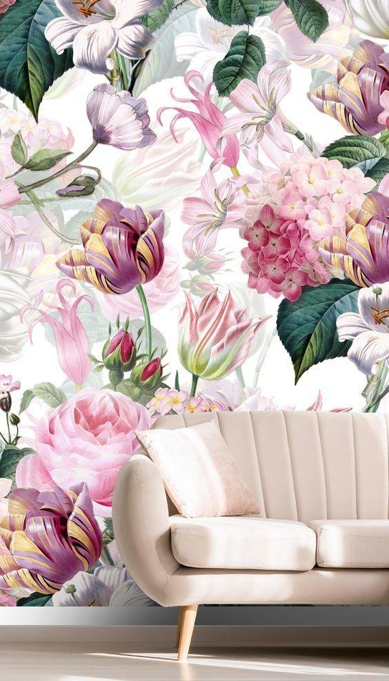 UTART Floral Romance Wallpaper
