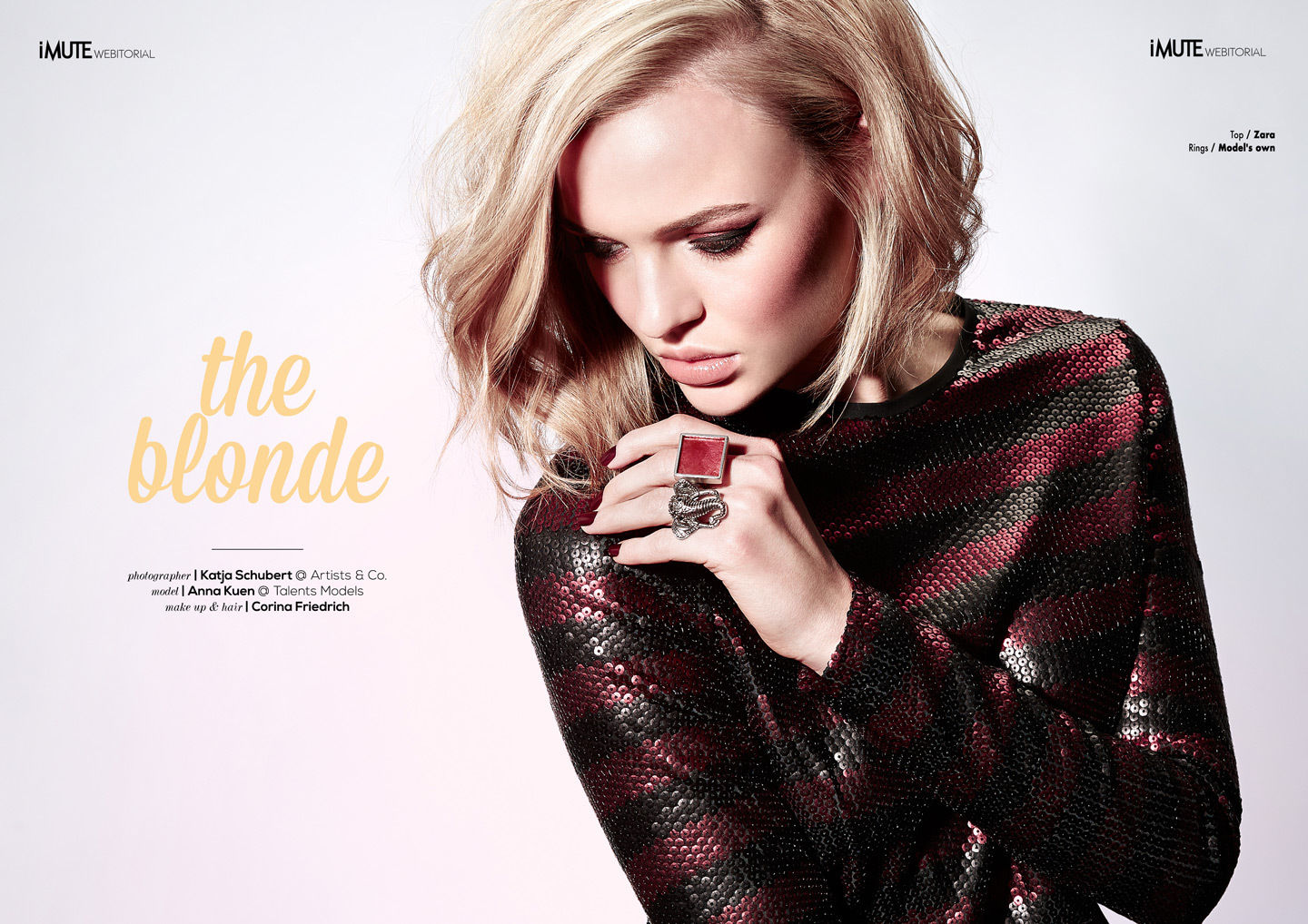 """""""The Blonde"""" for iMute Magazine"""