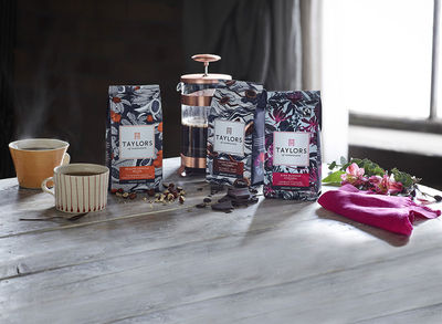 WILDFOX RUNNING: Suthipa Kamyam with packaging for Taylors of Harrogate Single Origin Coffee