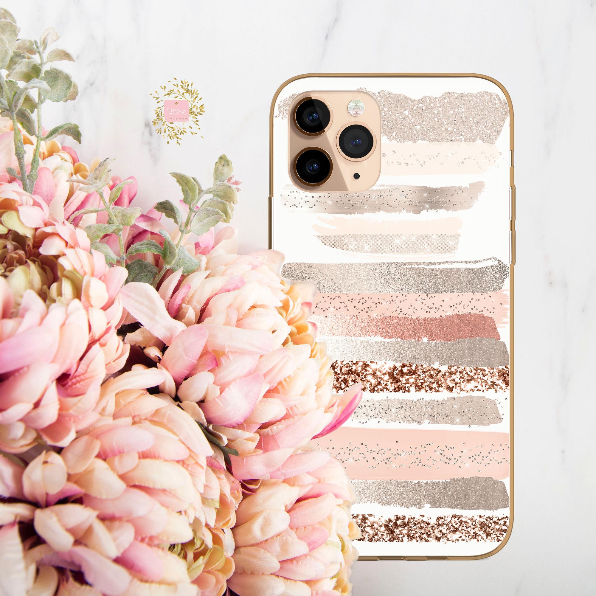 UTART Blush Glamour Strokes Iphone Case