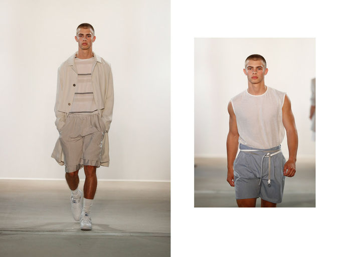 BIGOUDI: Paul Maximilian Schlosser für Hien Lee Show, Mercedes Benz Fashionweek