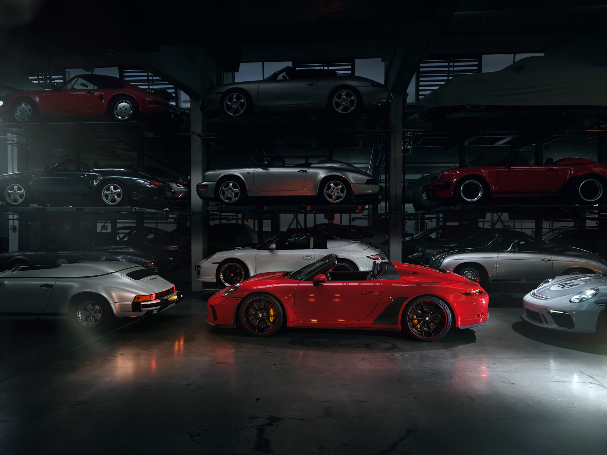 Porsche Speedster Indoor Shooting / Keko Frankfurt / Photo´: Jan Steinhilber / Post: NPIXO / Art Direction: Lars Heberer