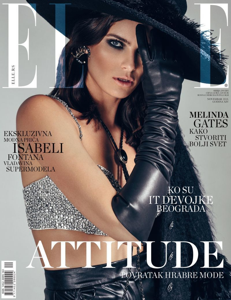 Isabeli Fontana for ELLE Serbia shot by Dawid Klepadlo