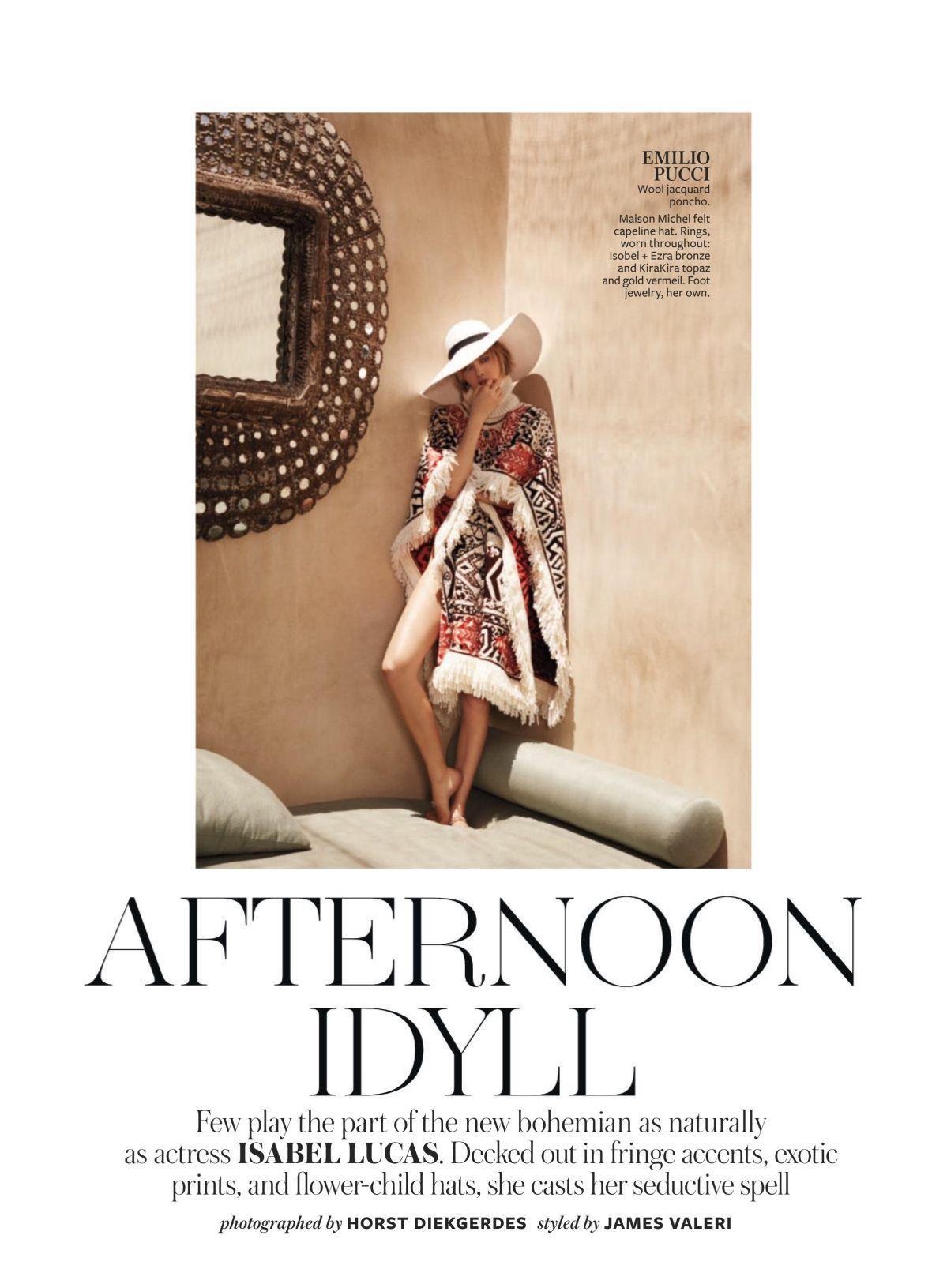 Instyle Magazine US - Isabel Lucas