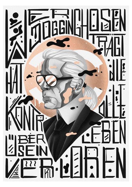 Tribute to Karl Lagerfeld / Moritz Adam Schmitt