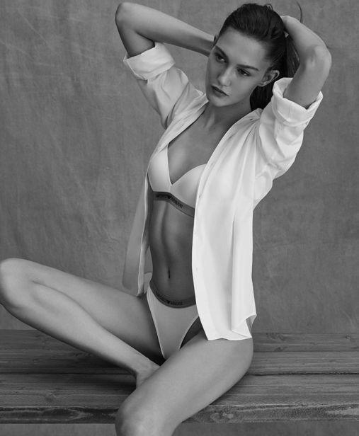 Vika Evseeva for Emporio Armani SS21 Underwear ICONIC
