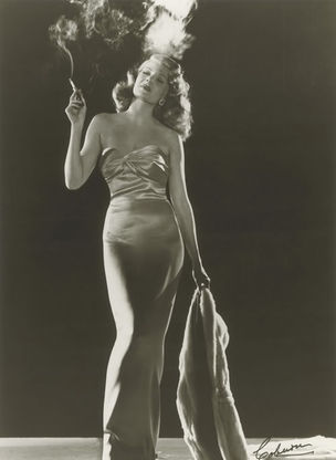 GLAMOUR OF THE GODS : Rita Hayworth for Gilda by Robert Coburn, 1946 (National Portrait Gallery)