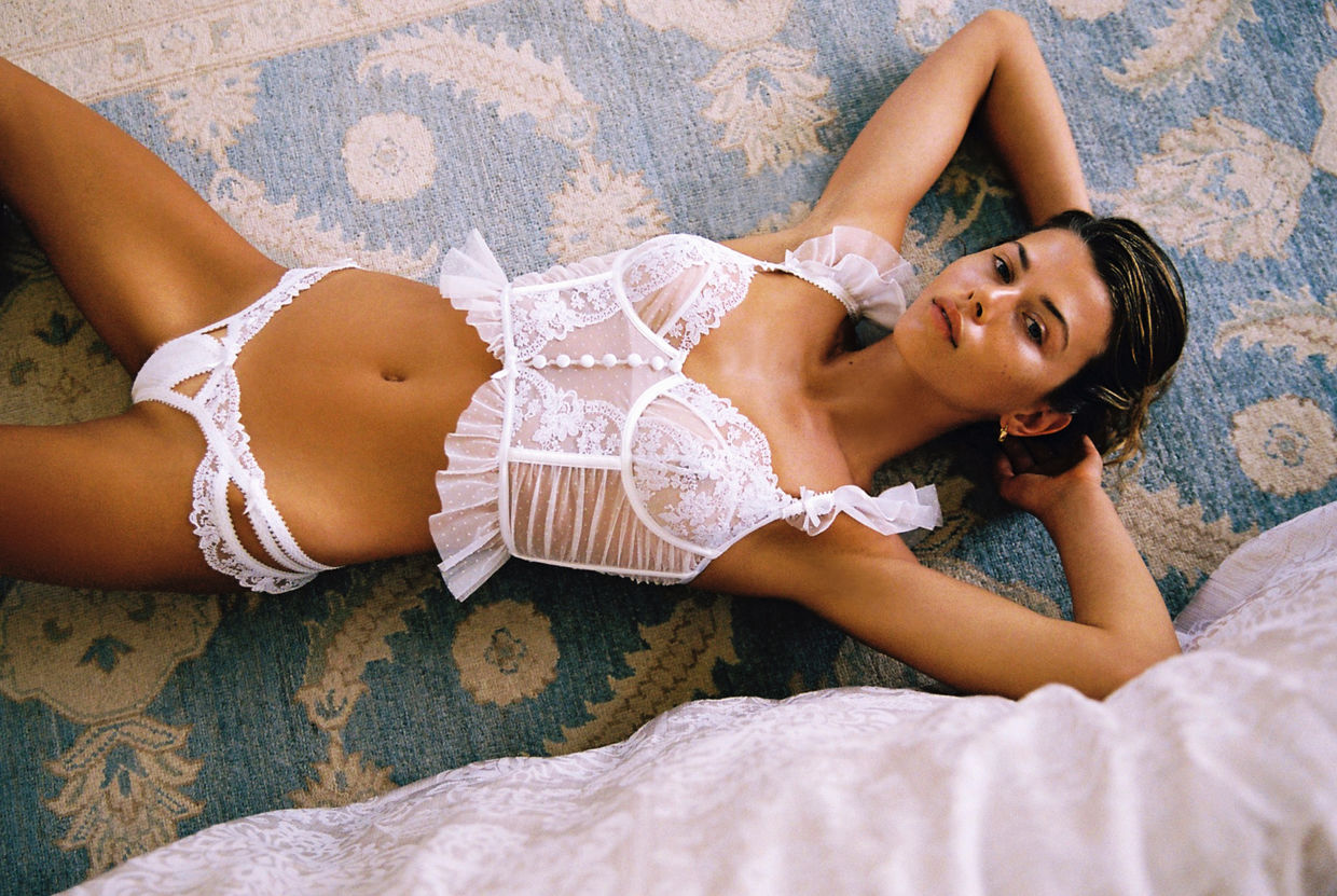 Georgia Fowler for Victoria's Secrets x For Love & Lemons Spring 2021 Campaign ICONIC