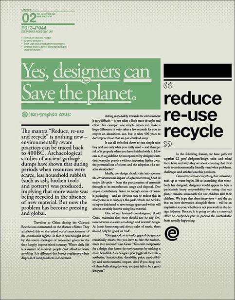 IDN MAGAZINE : Eco-Graphics