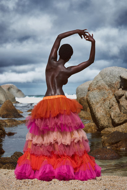 ASTRID M. OBERT Photography presents  Rainbow Rocks in Elegance Magazine with Olivia Sang from Boss Models, styled by  Petra Tielmann and groomed by Anja Fichtenmeyer