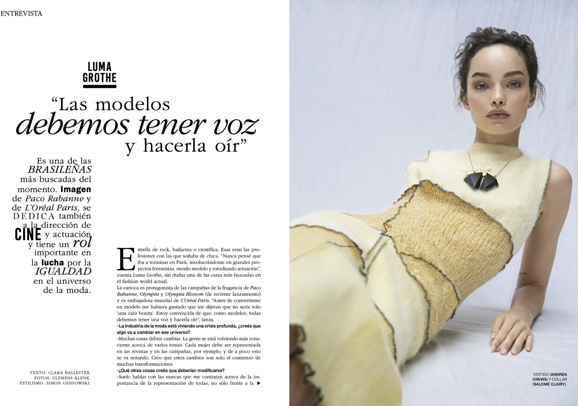 Luma Grothe for Marie Claire Argentina April 2021 ICONIC