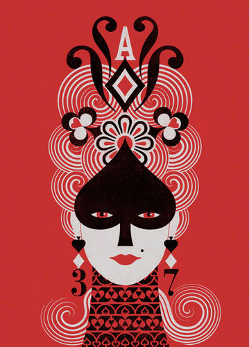 "BALBUSSO TWINS Cover Design for ""The Queen of Spades and Other Stories"""