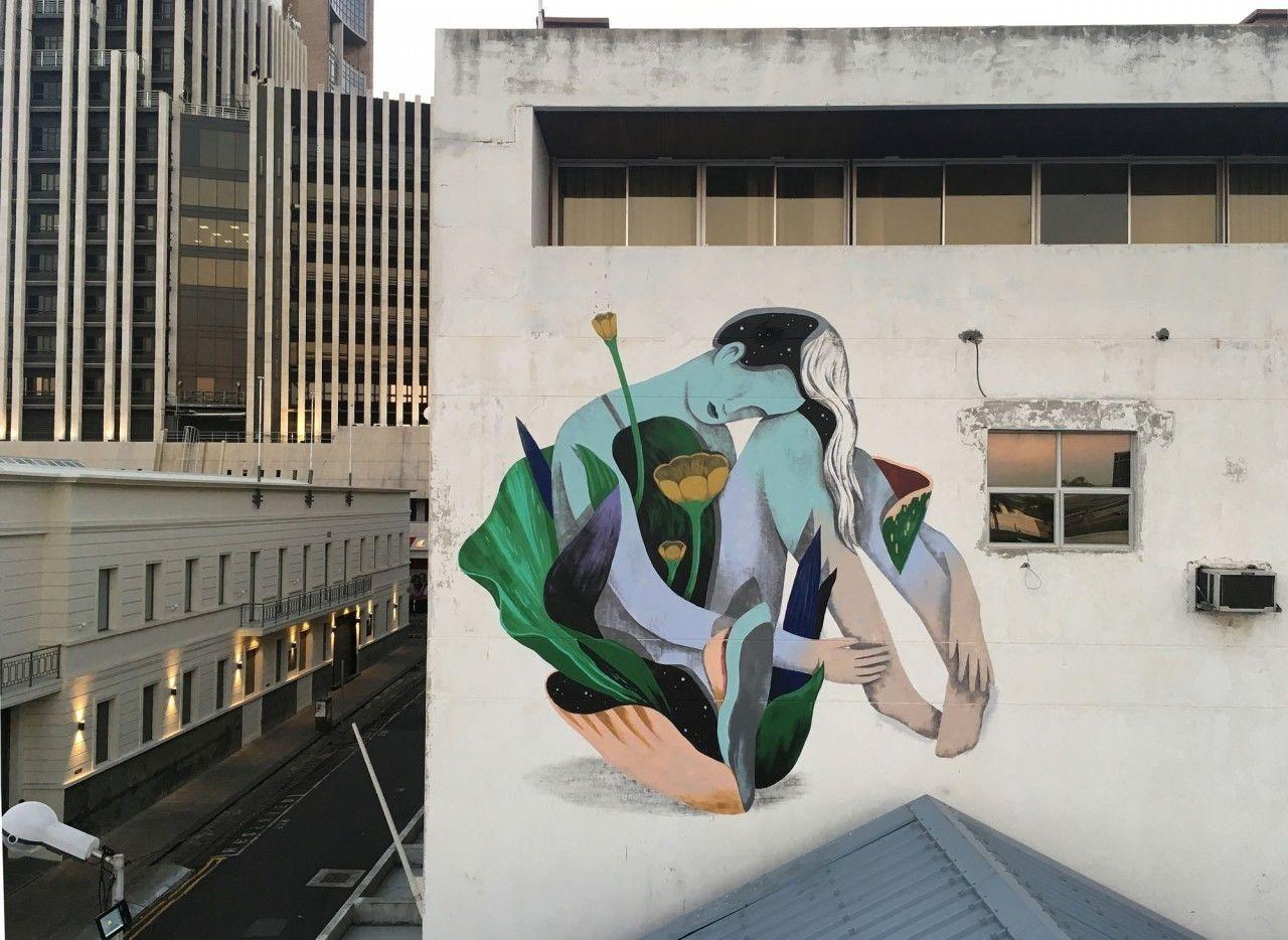 COSMOPOLA |  Illustration Artist Andrea Wan - innerspace Mural, Mauritius