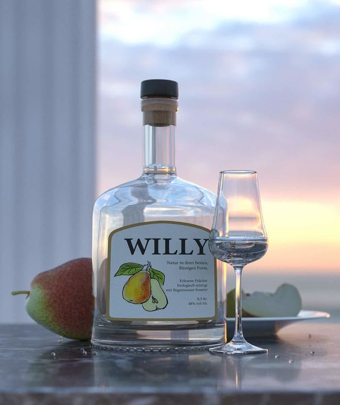 Williams pear bottle, - ralf kunstmann illustriert...