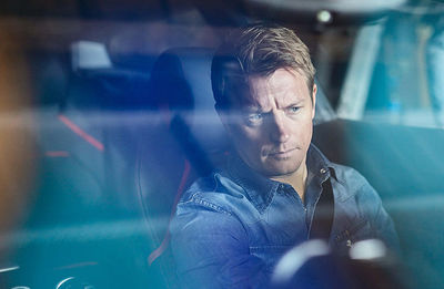 Thomas Schwoerer im GTC4 Lusso mit Kimi Räikkönen für das FERRARI Magazin