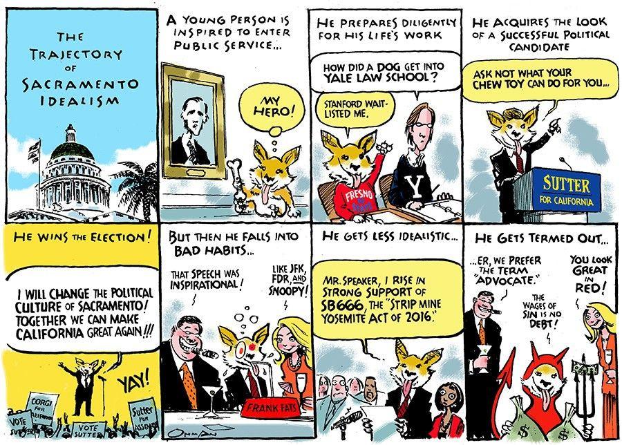 Sacramento Bee editorial cartoonist Jack Ohman was awarded the 2016 Pulitzer Prize (Editorial Cartooning)