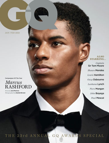 GQ Men of the Year Cover – Marcus Rashford by Hamish Brown c/o JSR AGENCY