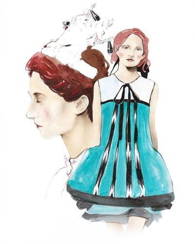 COSMOPOLA Illustration Artist - Francesco Lo Iacono - SS18 Bora Aksu