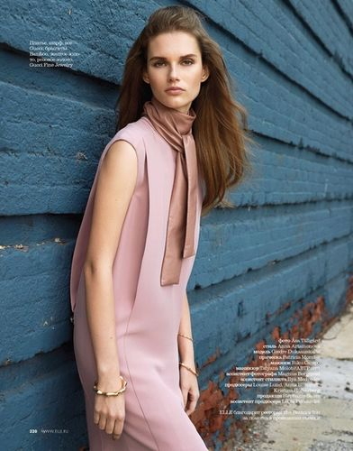 Giedre Dukauskaite by Asa Tallgard for ELLE Russia September issue 2014