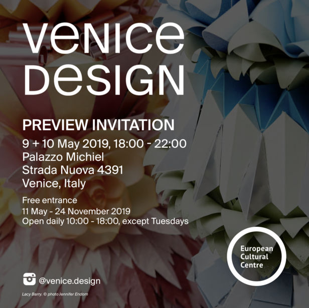 COSMOPOLA  | LACY BARRY exhibiting in Venice at Venice Design 2019 - INVITATION 9th-10th May