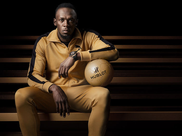 "SEVERIN WENDELER: ""Usain Bolt"" photographed by ""Sandro Baebler c/o Severin Wendeler"" for HUBLOT"