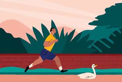 JSR AGENCY - Tiffany Beucher - Runner and swan