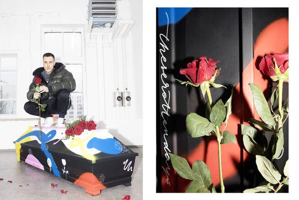 """KELLY KELLERHOFF REPRESENTS! Delia Baum für die """"My Personal Coffin"""" - Kampagne"""