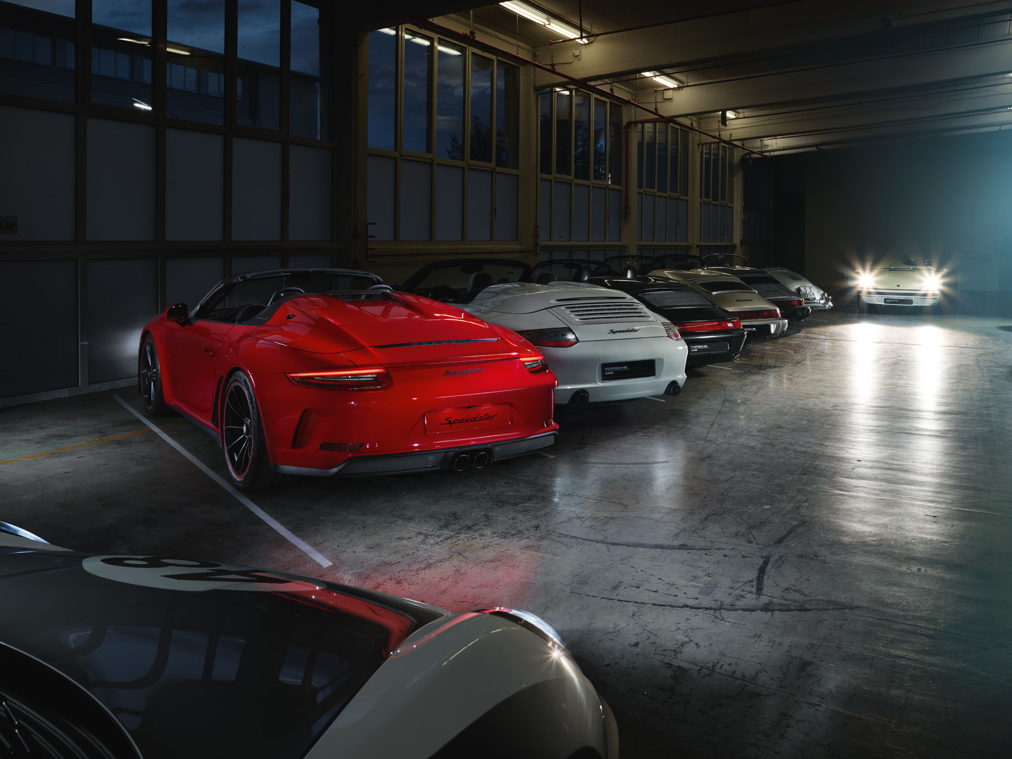 Porsche Speedster Indoor Shooting / Keko Frankfurt / Photo´: Jan Steinhilber / Post: NPIXO / Art Direction: Lars Heberer