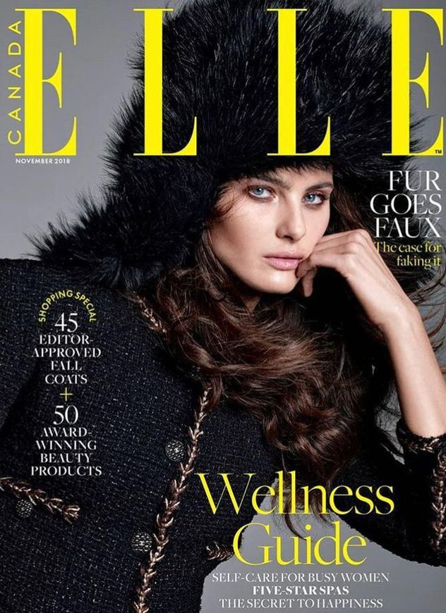 Isabeli Fontana for Elle Canada November Cover shot by Terry Tsiolis