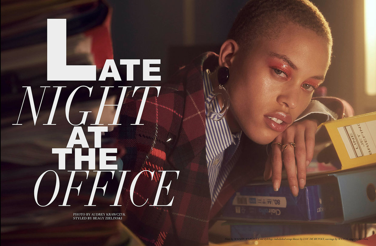 "NINA KLEIN, Beagy Zielinski, Harper´s Bazaar ""Late Night At The Office"""
