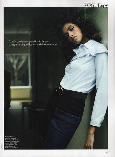 ANIMA CREATIVE: Model Pooja MOR for VOGUE UK