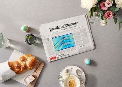 Kerstin Müller: Tabletts für FAZ Kampagne - Post Produktion: Nannette Römer
