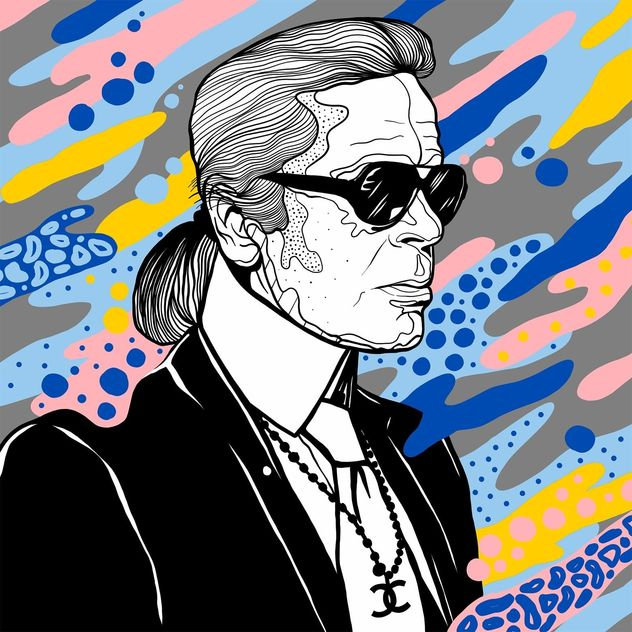 Tribute to Karl Lagerfeld / Casiegraphics