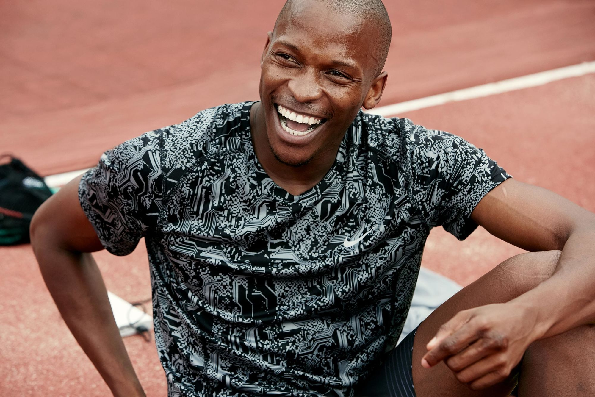 EMEIS DEUBEL: Richard Johnson shoots olympic athlete Luvo Manyonga