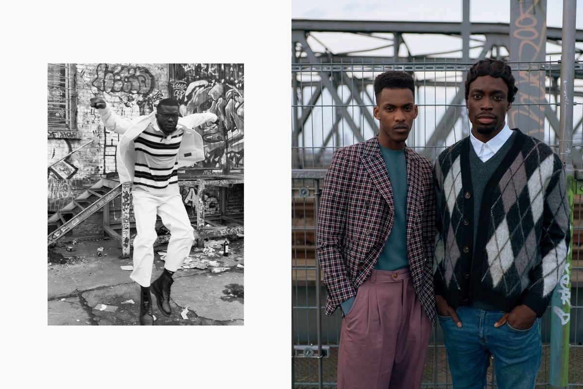 'Boys In The Hood' for the Glamcult Winter issue by Daniel ROCHÉ c/o SHOTVIEW featuring Michael Neuenhaus, David White, Dennis Kyere, and Akin Victor