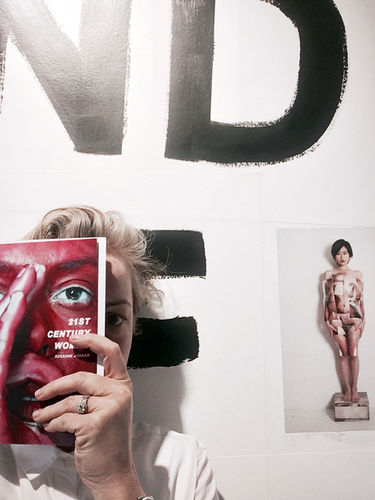 """Susanne Junker with her work and latest book """"21st century woman"""""""