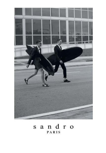 VIVA MODELS : Luca SCHMITZ for SANDRO S/S 2013