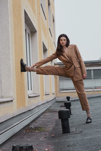Guusje on the rooftop for Lucys Magazine