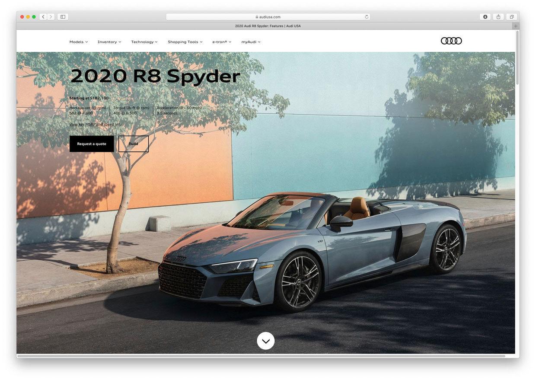 RECOM CGI : AUDI 2020 R8 Spyder - Audi of America