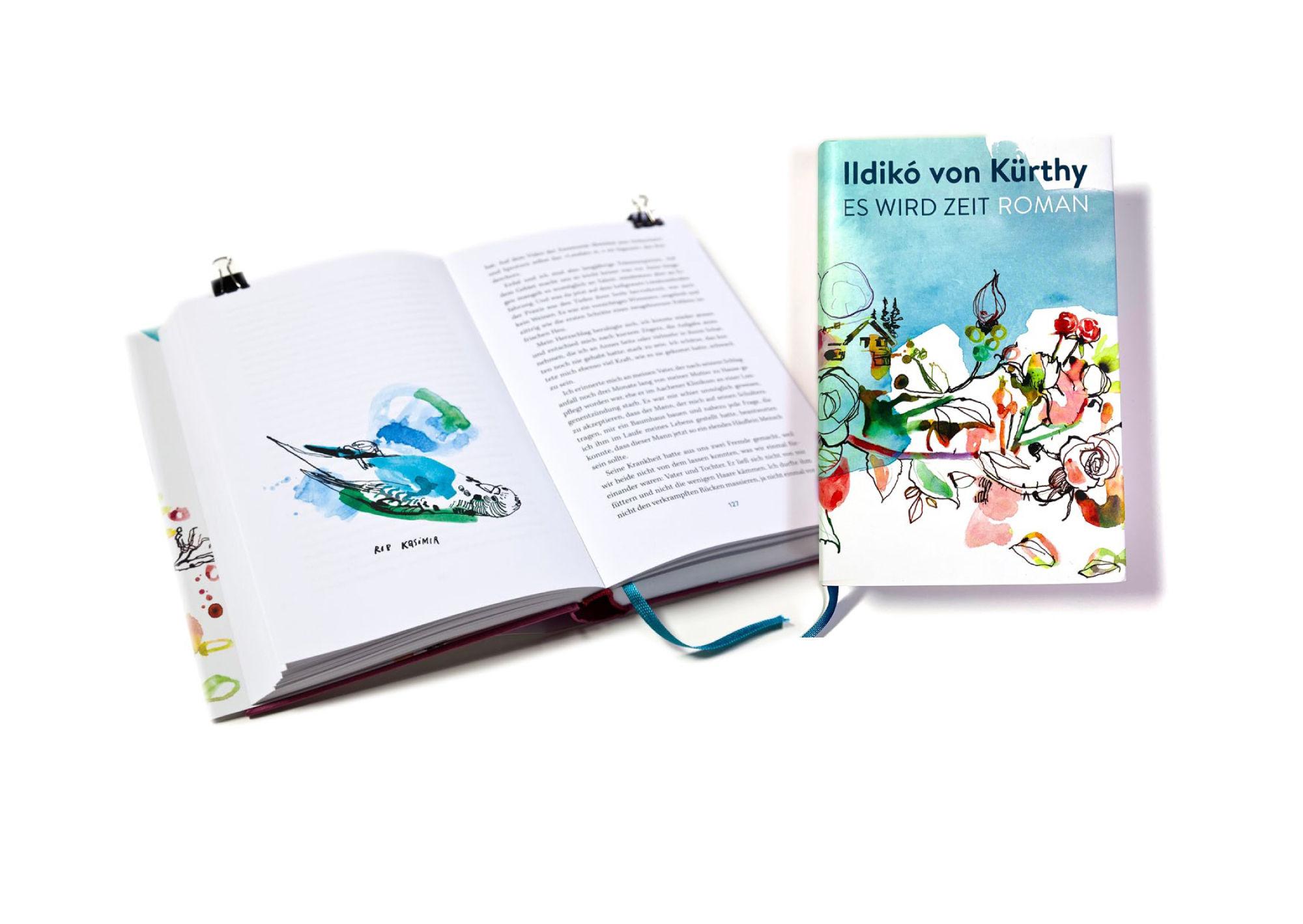 """PETER PICHLER bookillustration Ildikó von Kürthy """"Es wird Zeit"""""""