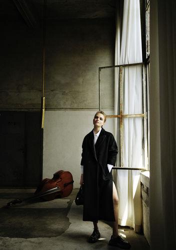 Anna Mila shot by Alex Waltl for Elle Germany