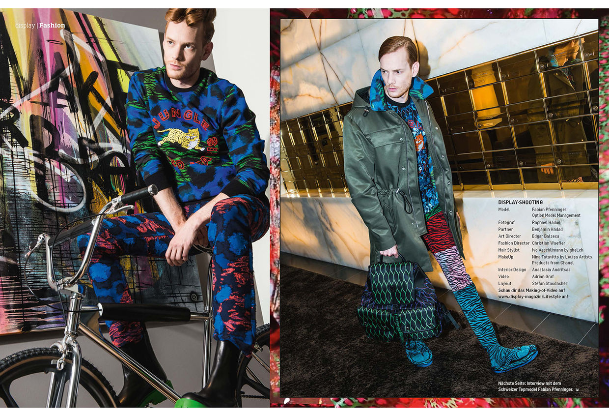 "Hair & Make-Up NINA TATAVITTO for ""KENZO X H&M"""